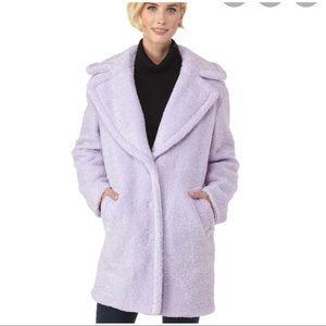 Kenzie faux fur teddy bear coat reversible size M